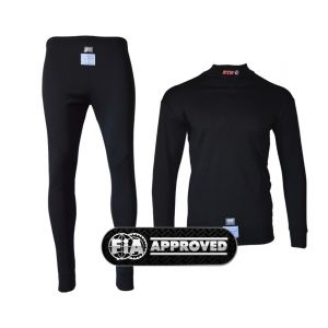 Rayon/Nomex Club Race Underwear - FIA Approved - Black